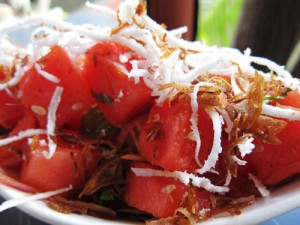 Fresh Coconut & Watermelon Salad