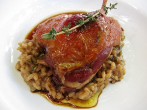 Confit Duck on Risotto