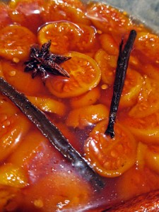 Poached Spiced Tamarillos
