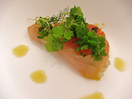 Tuna with capers, preserved lemon & oil