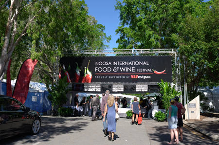 Entrance to the Festival Village