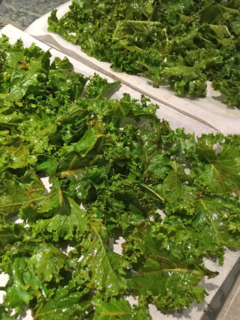 Kale chips on trays am sm